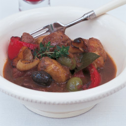 Pork braised with Potatoes and Olives