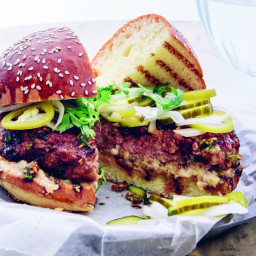 Pork Burgers with Spicy Ginger Pickles