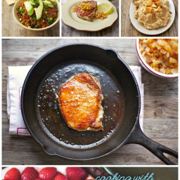Pork Chops and Apple Compote + A Review of Cooking with Coconut Oil