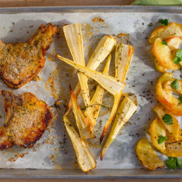 Pork Chops and Apple Sheet-Pan Dinner