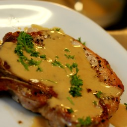Pork Chops in Mustard Sauce (DASH Diet)