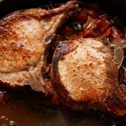 Pork Chops Puttanesca