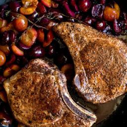 Pork Chops With Brandied Cherries
