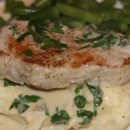 Pork Chops with Gorgonzola Sauce