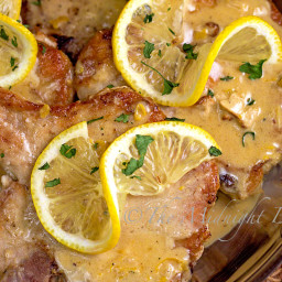 Pork Chops with Lemon Thyme Cream Sauce