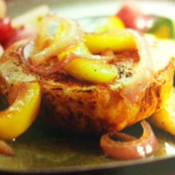 Pork Chops with Sauteed Apples and Onions