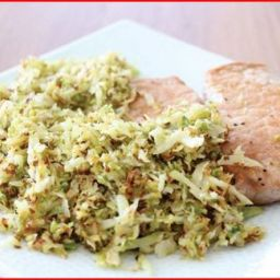 Pork Chops with Shredded Brussels Sprouts