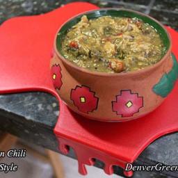 Pork Green Chili (Colorado Style)