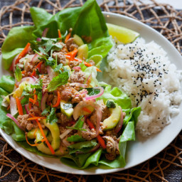 Pork Larbwith Coconut Rice