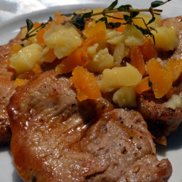 Pork Loin Chops with Apricot-Balsamic Glaze and Cheddar