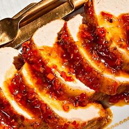 Pork Loin Roast with Pepper Jelly Glaze