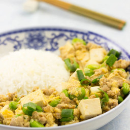 Pork Mince Tofu and Egg Rice Recipe