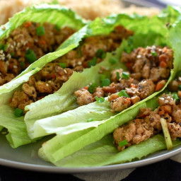 Pork mince with lettuce