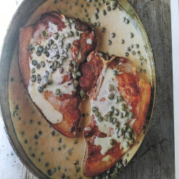 Pork: pork chops with mustard and capers