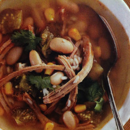Pork Pozole (Pulled pork soup with white beans)