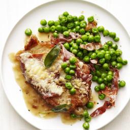 Pork Saltimbocca with Peas