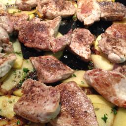 Pork: Spiced Tenderloin with Apples
