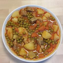 Pork stew with peas