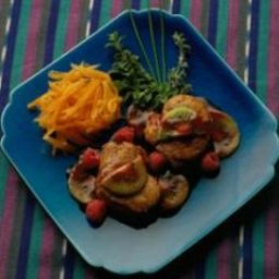 Pork Tenderloin Medallions with Raspberry Sauce