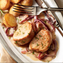 Pork Tenderloin with Red Onion Compote (Milk calendar)