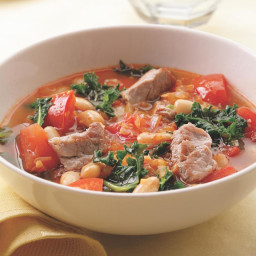 Pork, White Bean and Kale Soup