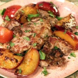 Pork with Gingered Plums