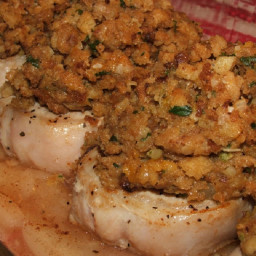 Pork chops with apples, onions and stuffing (customized)