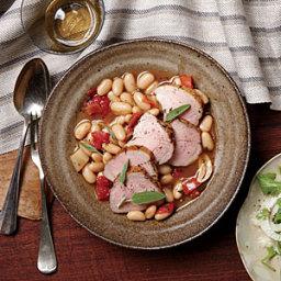 Pork Tenderloin and Cannellini Beans