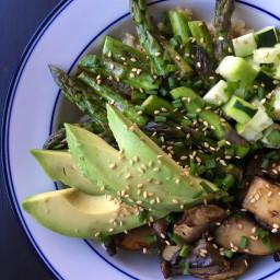 Portobello Teriyaki Veggie Bowl