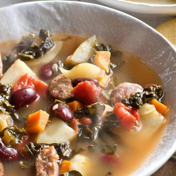 Portuguese Kale and Red Bean Soup