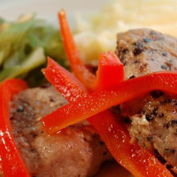 Portuguese Pork with Red Peppers