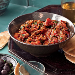 Pot-Roasted Eggplant with Tomatoes and Cumin