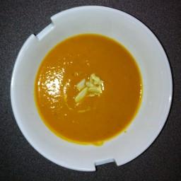 Potage carottes patates douces et gingembre