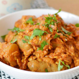 Potato and lentil curry