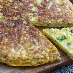 Potato and Onion Tortilla In A Pan (Spanish Frittata)