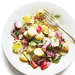 Potato and Vegetable Salad with Mustard Ranch