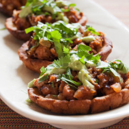 Potato-Chorizo Sopes With Avocado Crema
