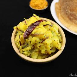 potato curry for masala dosa | aloo baji for masala dosa