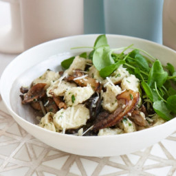Potato Gnocchi with Garlic Butter, Mushrooms and Snails