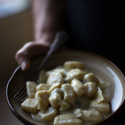 Potato Gnocchi with Gorgonzola Cream