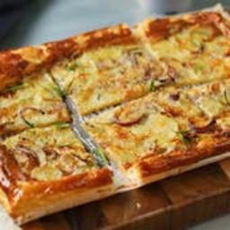 Potato Gorgonzola Rosemary Puff Pastry Tart