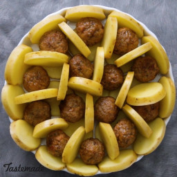 Potato Meatball Bake