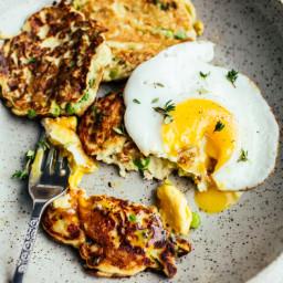 Potato, Pea and Leek Pancakes