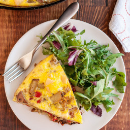 Potato, Red Pepper and Gouda Frittata