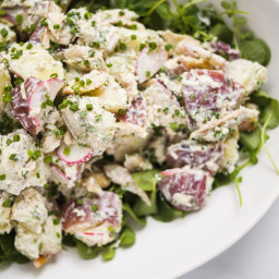 Potato Salad and Smoked Trout with Horseradish and Chives