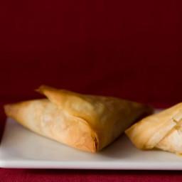 Potato Samosa Phyllo Triangles