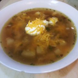 Potato Skin Soup