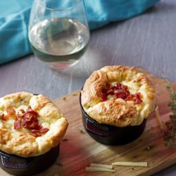 Potato Souffle with Roasted Garlic, Gruyere and Herbs