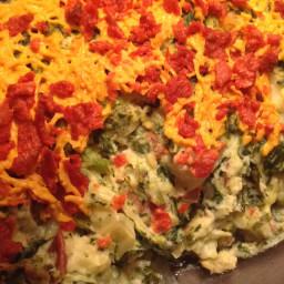 Potato Spinich Casserole