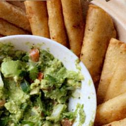potato tacos with guacamole